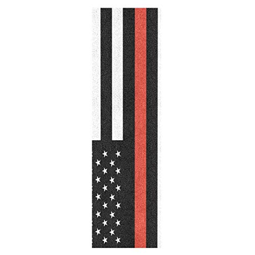 Arte Negro Bandera Americana Monopatín Papel de Lija Antideslizante Hoja Cinta de Agarre Lijas para Patineta Scooter Etiquetas engomadas (84 x 23 cm)