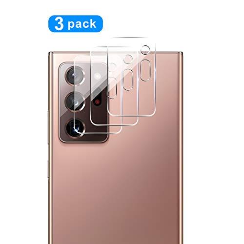 QULLOO Kamera Panzerglas für Samsung Galaxy Note 20 Ultra, [3 Stück] Kamera Schutzfolie Anti-Kratzen Kameraschutz für Samsung Galaxy Note 20 Ultra 5G