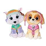 Beanie Boos Ojos de purpurina de Paw Patrol | Selección de figuras de peluche | 24 cm | Softwool, Skye y Everest Pack