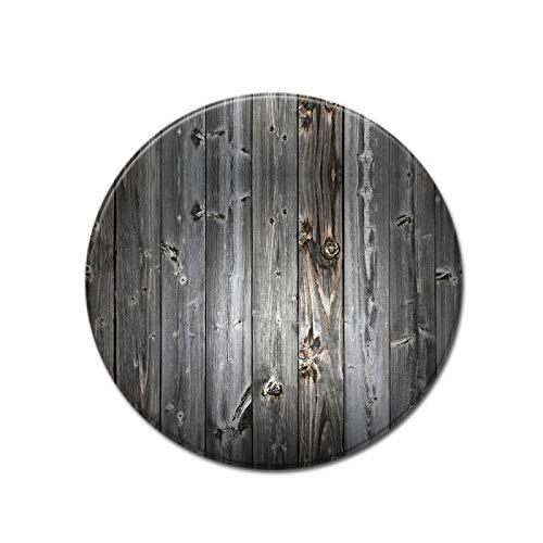 SSHHJ Realistischer Runder Teppich Aus Holzmaserung Im Retro-Stil Für Sitzkissen, Kinder-Krabbelmatten Und Waschbares Nylonmaterial