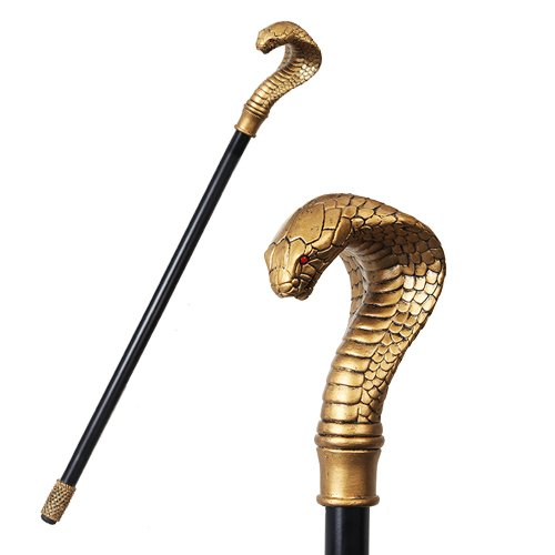 Pacific Giftware Ancient Egyptian Culture Cobra Snake Walking Cane Prop Accessory