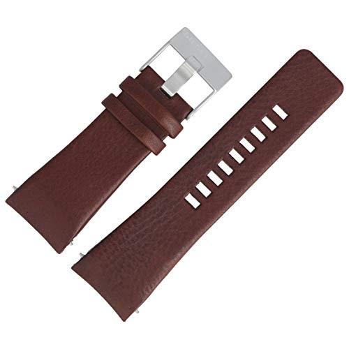 Diesel DZ-1179 - Correa de piel para reloj de pulsera, 28 mm, color marrón