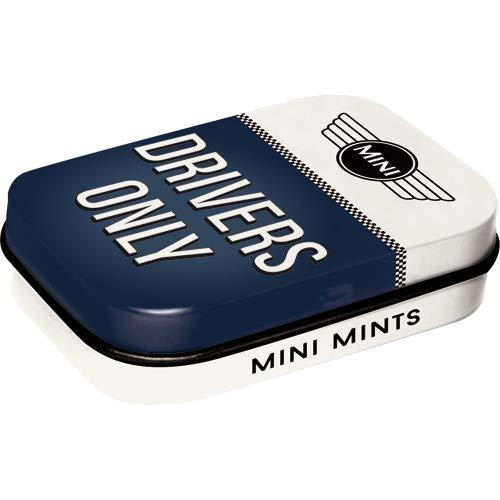 Nostalgic-Art 81392 Mini - Drivers Only | Pillen-Dose | Bonbon-Box | Metall | Gefüllt Mit Pfefferminz-Dragees