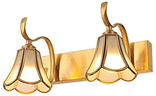 HDDD Spiegellamp voor aan de muur met spiegel, voorlicht, badkamerspiegel, lamp voor make-up, wandlamp, waterdicht, roestvrij, voor thuis, villa, bars, restaurants