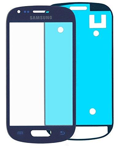 KlickaDeal® Samsung Galaxy S3 mini i8190, i8195 LCD Display Front Glas Glass Touch Screen Glas mit Klebefolie Blau