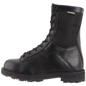 "Bates Men's 8"" DuraShock Lace-to-Toe Side Zip Work Boot, Black, 10.5 M US"