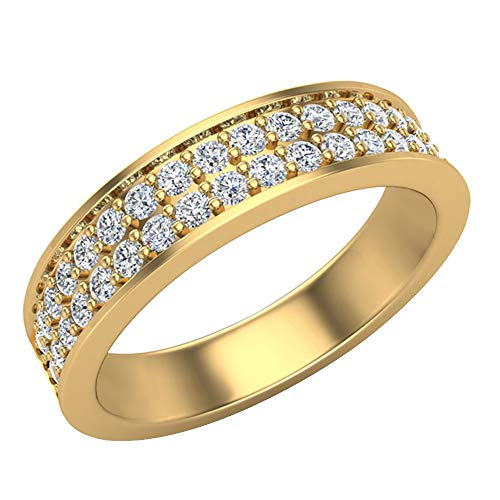 Glitz Design Mujer Hombre Niños Unisex oro 14 quilates (585) oro amarillo 14 quilates (585) Round Brilliant IJ Diamond
