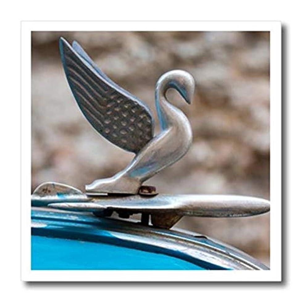 3D Rose Cuba - Havana. Vintage Car Hood Ornament Iron On Heat Transfer, 8 x 8, White