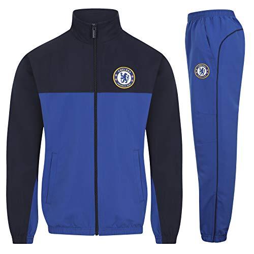 Chelsea FC - Jungen Trainingsanzug - Jacke & Hose - Offizielles Merchandise - Geschenk für Fußballfans - Königsblau - 8-9 Jahre