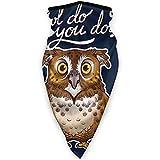 Magic Scarf,Owl Do You Do Pun Balaclava, Calentadores Decorativos Resistentes Al Viento para La Pesca Deportiva De Esquí,24x52cm