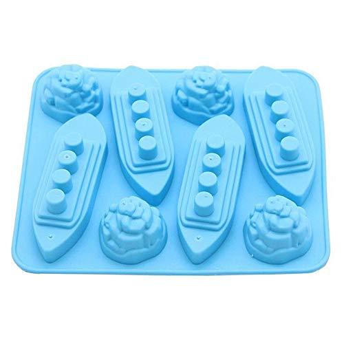 Yqs Stampo Ghiaccio Titanic Silicone Modellato la Muffa del cubo di Ghiaccio Patterns vassoi di Ghiaccio Barca Iceberg Forma Carving Muffa della Muffa Maker for Il Partito Drink