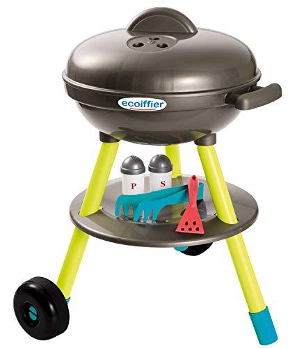 Ecoiffier – Kugelgrill für Kinder – 16-teiliger Spielzeug-Grill, mit Bratwurst, Brathähnchen und Grillzubehör, für Kinder ab 18 Monaten