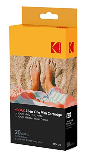 Kodak Mini Photo Printer cartridge MC - All-in-One papier en inktcartridge navulling, Single, Onbekend, 20er Pack