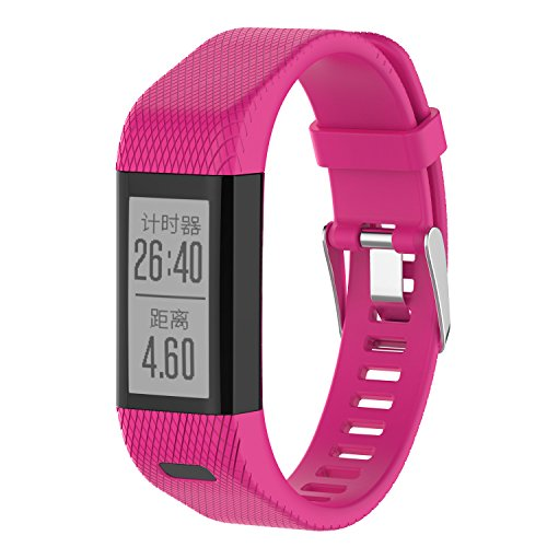XIHAMA Armband für Garmin Vivosmart HR +, Silikon Ersatzband Fitness Sport Armbänder für Vivosmart HR Plus (Not for Vivosmart HR) (hot pink)