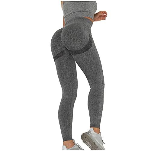 QTJY Leggings de Cintura Alta sin Costuras, Pantalones de Yoga elásticos Deportivos para Correr Deportivos para Mujer C XL