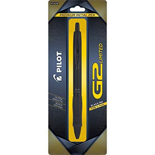 Pilot G2 Limited Premium Gel Ink Pen, Fine Point, Matte Black Barrel, Black Ink, 1 Count (15238)
