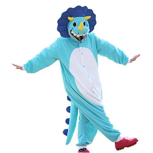 Lifeye Adult Triceratops Pajamas Animal Cosplay Costume Blue