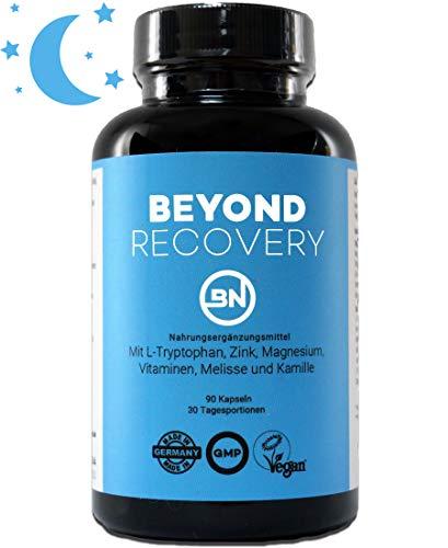 BEYOND RECOVERY natürliche Nahrungsergänzung ohne Melatonin - 90 rezeptfreie Kapseln, extra stark...