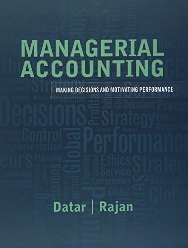 Compare Textbook Prices for Managerial Accounting: Decision Making and Motivating Performance 1 Edition ISBN 9780137024872 by Datar, Srikant,Rajan, Madhav