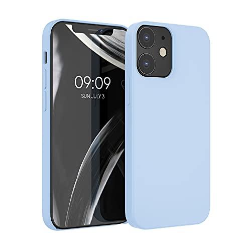 kwmobile Hülle kompatibel mit Apple iPhone 12/12 Pro - Hülle Handyhülle gummiert - Handy Hülle in Hellblau matt