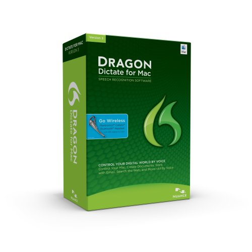 Dragon Dictate for Mac 3.0 Wireless (with Bluetooth Headset) (Old Version)