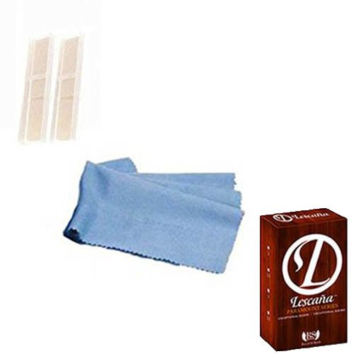 Lescana Paramount Series Bass Clarinet Reeds 2 PACK (Size 2.5) with Bonus Bass Clarinet Cleaning Cloth
