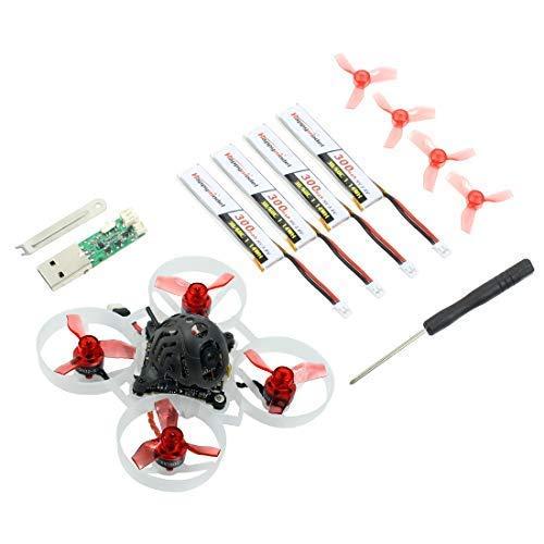 HAPPYMODEL Mobula6 1S 65mm Brushless Whoop Drone Mobula 6 BNF AIO 4IN1 Crazybee F4 Lite Controlador de Vuelo VTX RC Toy Gift Incorporado (25000KV Flysky)