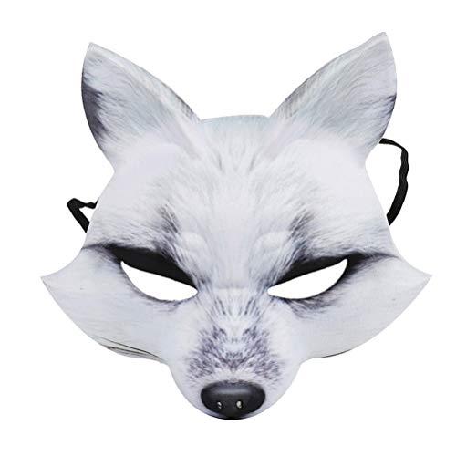 Amosfun Fuchs Maske Halloween kostüm zubehör Eva Maske Party Cosplay gefälligkeiten
