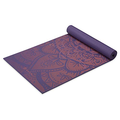 Gaiam Yoga Mat Premium Print Extra Thick Non Slip Exercise & Fitness Mat for All Types of Yoga, Pilates & Floor Workouts, Marrakesh, 6mm