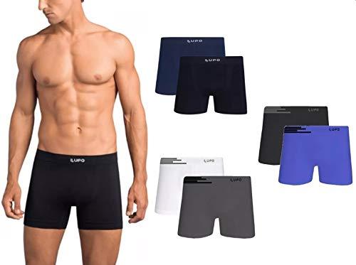 Kit Com 6 Cuecas Boxer Lupo Microfribra Sem Costura Adulto Box Masculina 436