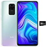 Xiaomi Redmi Note 9 (128GB, 4GB) 6.53', 5020mAh Battery, MTK Helio G85, Dual SIM GSM Unlocked Global 4G LTE (T-Mobile, AT&T, Metro, Straight Talk) International Model (128GB SD Bundle, Polar White)