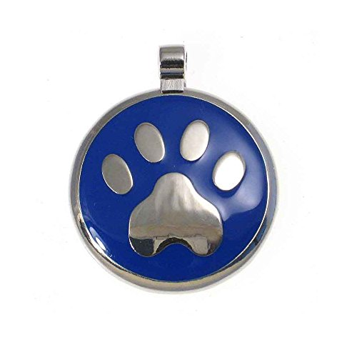 LuckyPet Paw Print Enamel Jewelry Pet ID Tag for Dogs and Cats, Personalized Engraving on The Back Side