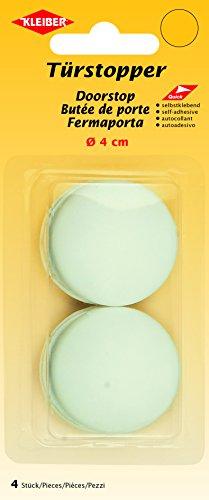 Kleiber 2 Stück Ø=4 cm Türstopper selbstklebend, Plastik, weiß, 15,9 x 6,7 x 2,2 cm