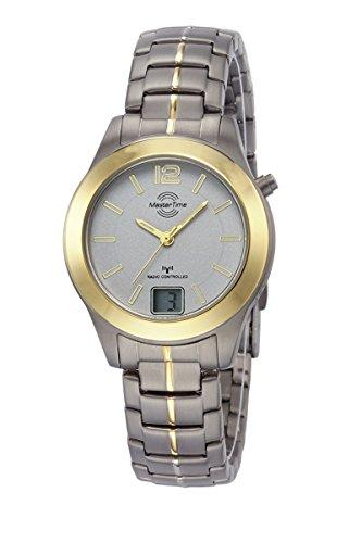 Master Time Funk Quarz Damen Uhr Analog-Digital mit Titan Armband MTLT-10354-42M