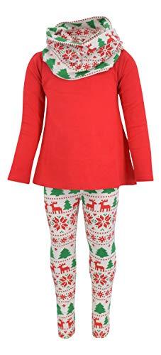 Unique Baby Girls 3 Piece Red Christmas Winter Legging Set (8)