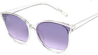 QWKLNRA - Gafas De Sol para Hombre Marco Blanco Lente Púrpura Retro Espejo Gafas De Sol Mujer Hombre Lujo Vintage Ojo De Gato Gafas De Sol Negras contra-UV Uv400 Ciclismo Viajes Pesca Gafas De Sol Al