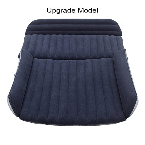 FOCHEA Car Inflatable Air Mattress Bed Cushion for Sedan SUV, Thicken Auto Camping Travel Mattress, Car Inflation Bed Extended Sleep Rest Mattress [Upgrade Model]