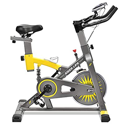 Mini Exercise Bike, Under Desk Elliptical, Sit and Stand Cycle Machine with Large Pedal and Stable Base, Fitness Exercise Stepper Peddler for Home and Office Aerobic Workout by iDeer Life