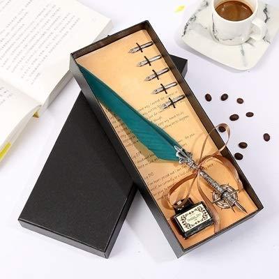 L.J.JZDY vulpen mooie gans pen spel pen klassieke pen kalligrafie veer pen strip professionele pen schrijven geschenkdoos handschrift