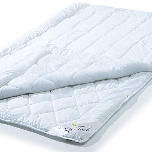 aqua-textil Soft Touch 4 Jahreszeiten Bettdecke, 135 x 200 cm, Steppdecke atmungsaktiv Decke Winter Sommer