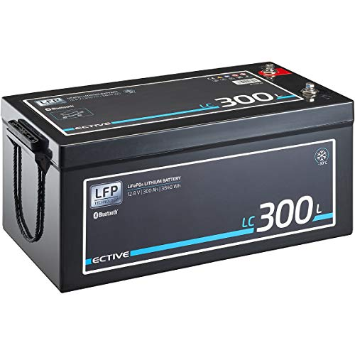 ECTIVE LC300L LT 12V 300Ah 3840Wh -30 Grad Low Temperature LiFePO4 Lithium-Eisenphosphat Versorgungs-Batterie mit Bluetooth-Funktion und App