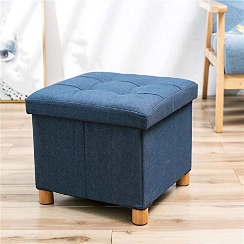 YTCGNSDVB Reposapiés tapizado para el hogar, Almacenamiento Plegable, pufs Acolchados, reposapiés Cuadrado Plegable, reposapiés, reposapiés, reposapiés (tamaño: 38x38x38cm) (A)