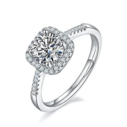 KRKC Anillos de moissanita, anillos de compromiso de diamante para mujer, anillos de diamantes de moissanita de 1 quilates, anillo de compromiso, anillo de boda de moissanita, Piedra, Moissanite,