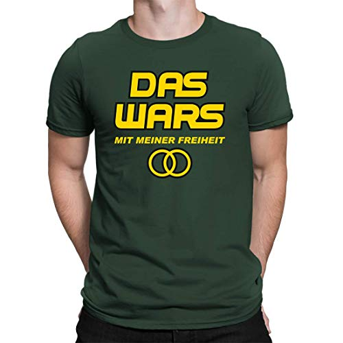 Camiseta de despedida con texto en alemán