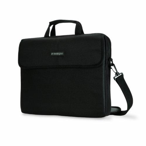 Kensington Laptop Tasche, Klassische Tasche für 15,6 Zoll Laptops mit Tragegriff und Schultergurt für Männer und Frauen, schwarz, K62562EU