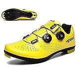FGFDS Hombre/Mujer Zapatillas De Ciclismo, MTB Bicicleta De Carretera Zapatillas De Spinning Pedales Transpirables Autoblocantes Zapatillas De Carreras Zapatillas De Bicicleta De Montaña