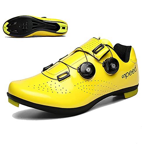 FGFDS Hombre/Mujer Zapatillas De Ciclismo, MTB Bicicleta De Carretera Zapatillas De Spinning...