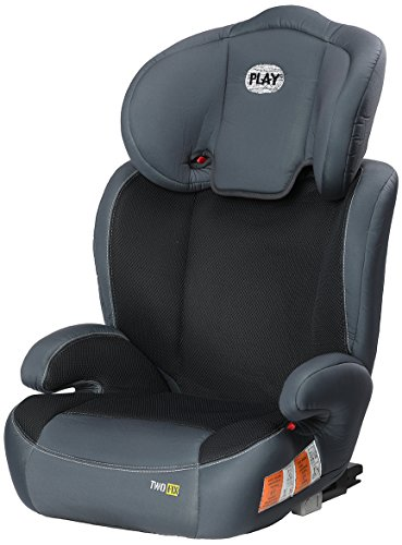 Play Two Fix, Silla de coche grupo 2/3 Isofix, gris/negro