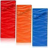 Bright Creations Rigid Slider Pencil Case Box (3 Colors, 24 Pack)
