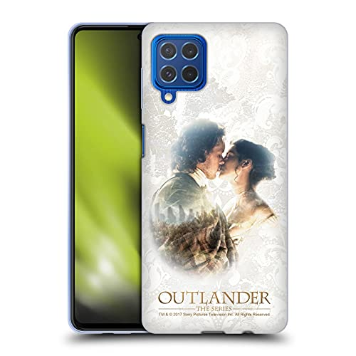 Head Case Designs Licenza Ufficiale Outlander Claire E Jamie Bacio Primi Piani Cover in Morbido Gel Compatibile con Samsung Galaxy M62 (2021)